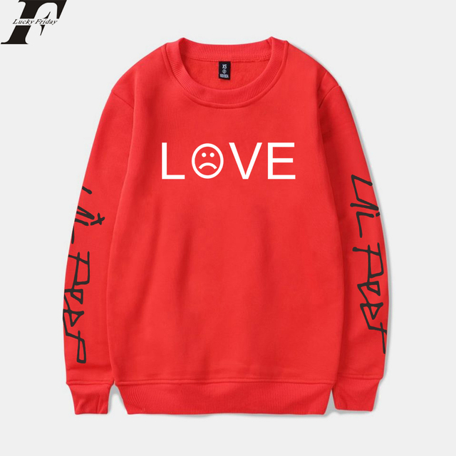 Lil Peep Sweatshirt Autumn Hip Hop Harajuku Casual Fleece Hoodies Mens Fashion Loose Pullover Hoodies Lil Peep