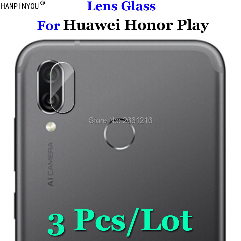 3Pcs/Lot For Huawei Honor Play COR-AL00 Ultra Clear Soft Fiber Transparent Tempered Glass Back Camera Lens Screen Protector Film