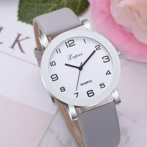 LVPAI Leather Band Classic Casual Analog Women Watches