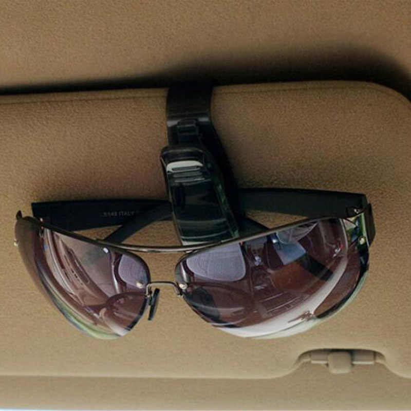 1 pc Universal ABS Car Verão Interior Decoração De Vidro Auto Prendedor Sol Viseira Óculos Sunglasses Ticket Titular Do Cartão Clipe