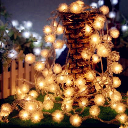 10 M Pequena Bola LED String Fada Luzes do Ano Novo Cristmas Guirlanda Decoração Christams LEVARAM Luzes Ao Ar Livre Luzes De Natal