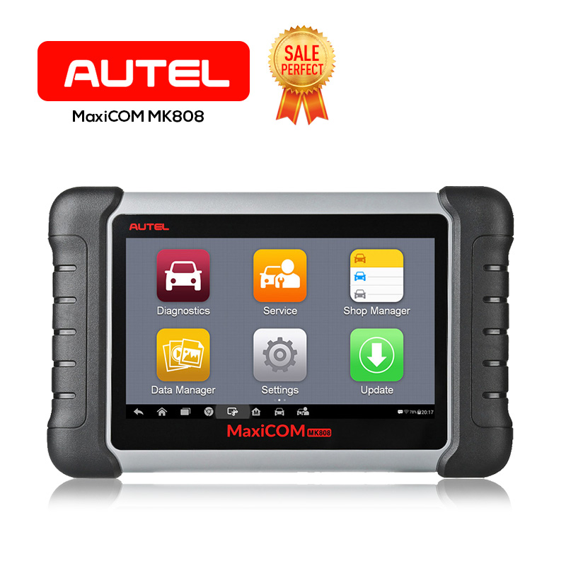 Autel OBD2 Scanner MaxiCOM MK808 Automotive Diagnostic Tool Supports Full System IMMO/EPB/SAS/BMS/TPMS/DPF(MD802+MaxiCheck Pro)