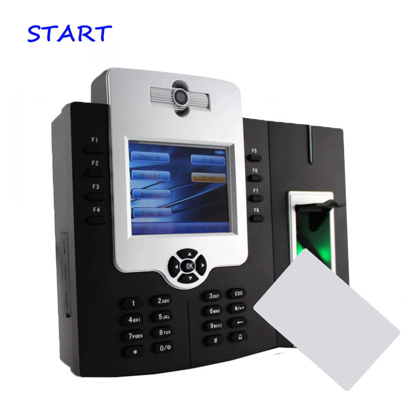 ZK ICLOCK880-H Fingerprint Time Attendance And Access Control With 125KHZ RFID Card Reader And Camera And Backup Battery