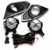 Spark daytime light car accessories Chrome Driving Lamps Fog Light for Chevrolet Chevy Spark 2013~2015 With Wires Harness Switch