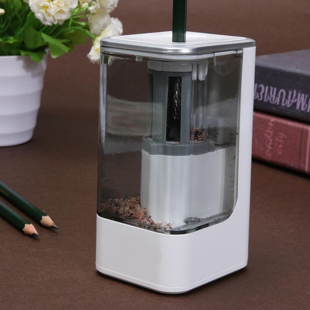 VODOOL School Kid Electric Pencil Sharpener Automatic Pencil Sharpener with Plug Office Student School Stationery Supplies Gifts 2018 rushed 3 years old electronic automatic pencil sharpener electric special art painting student gift school supplies