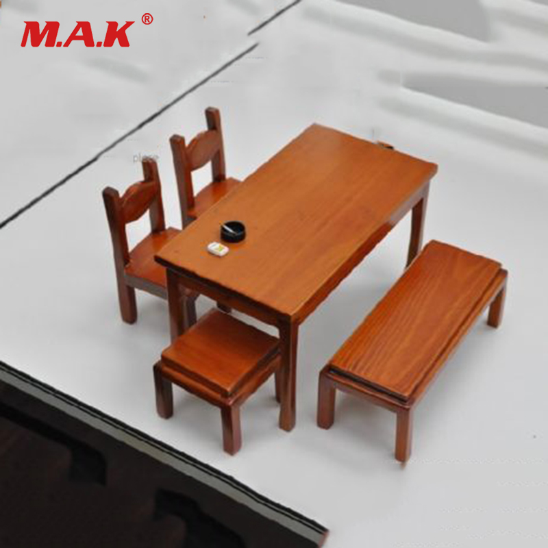 KUMIK AC-17 Wooden Desk Chair Table Stool 1/6th Furniture Model F 12'' Figure bedroom home furniture dresser table with 2 drawers mirror and stool neoclassical style kd packaged wooden carved materials