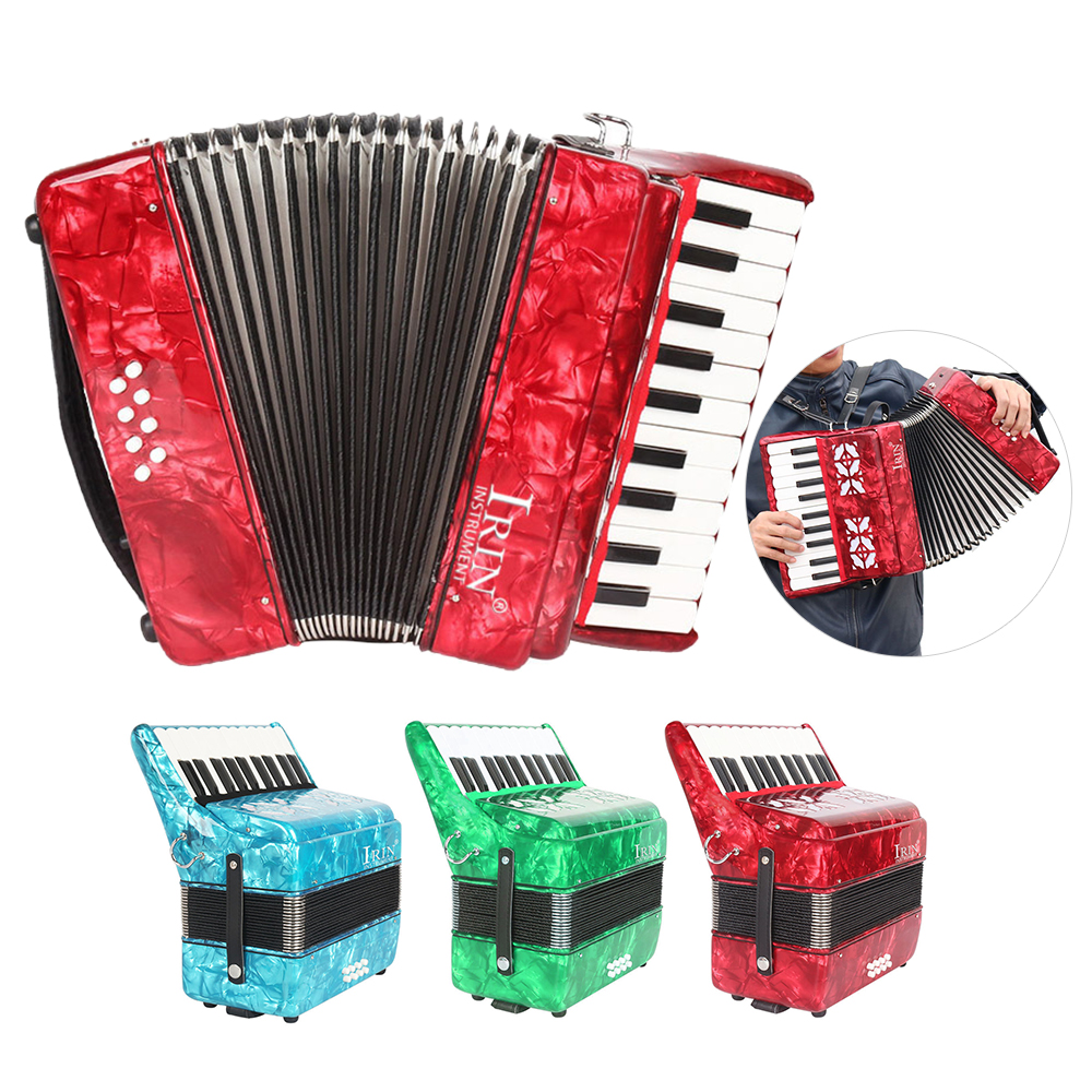 US $156 22 49% OFF IRIN 22 Key 8 Bass Piano Accordion with Straps Gloves  Cleaning Cloth Educational for Students Beginners Childern-in Accordion  from