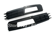 Replacement Front Lower Side Cooling Air Grille with Fog Light Cutout For Audi A6 C6 Facelifted