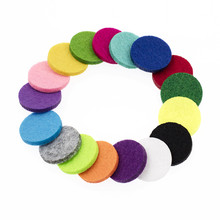 Set of 20 Colorful Felt Pads for Aromatherapy Pedants