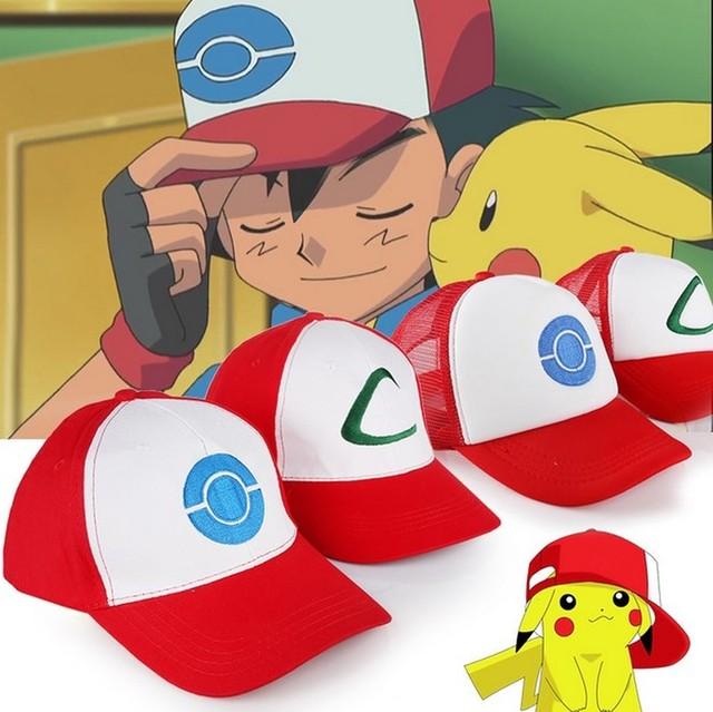 Pokemon go Cosplay traje props 2 Estilo para elegir Anime POKEMON Ash  Ketchum gorra de béisbol d909547f5ce