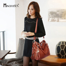 MINOFIOUS Female Genuine Leather Handbags Fashion Tassel Handbag Luxury Tote Bag Designer Women Elegant Shoulder Bags bolsas