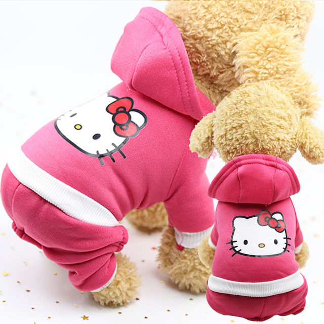 Pet Dog Cat Four-legged Sweater Clothes Winter Warm Outfit Costume Cartoon Coat for Small Big Dogs Dress Apparel for Kitty Dogs