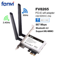 867Mbps Dual Band PCI E PCI Express Wifi Network Card Wireless Adapter For Intel 8265 AC