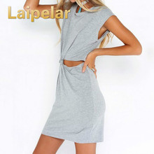 95f579d6b6092f Casual Summer Women Dress Short Sleeve Round Neck Slim Fit Bodycon Dress  Cut Out Slim Cut