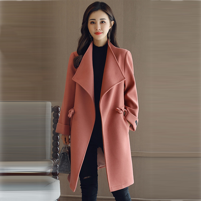 Taille purple Rouge Dark omi Plus S red Mode Nouveau Veste Longue cedar Casaco Green De 4xl Survêtement Mi Gree Grand La Red Laine D'hiver Manteaux Grey Femme Femmes 2018 Colour caramel Foncé Xy251 E4qgw1