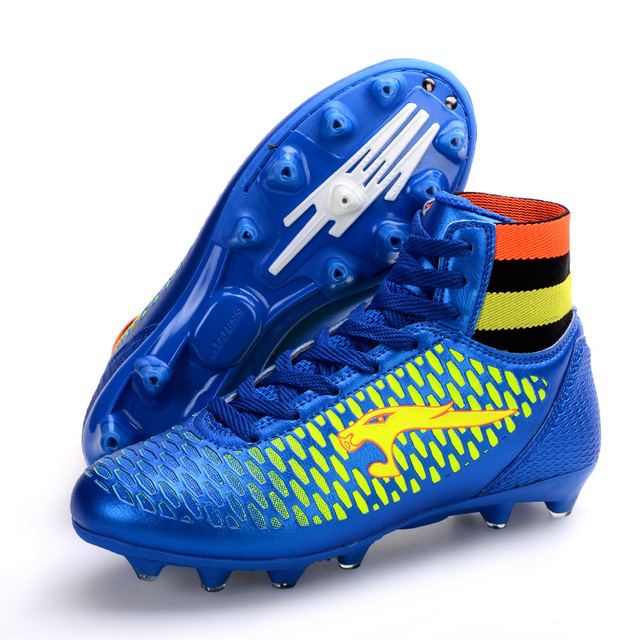 Al aire libre adultos hombres niños fútbol zapatos alto Top TF FG AG botas 74f478ad27ed6