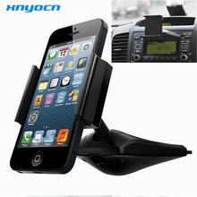 360 degree Universal Car CD Slot Dash Phone Mount Stand Holder For iPod GPS iPhone 6 Plus 5S 5 4S Samsung Galaxy S5 Note 4 EDGE