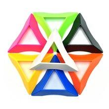 10 Chiếc Màu 2X2 3X3 4X4 Khối Lập Phương Đứng Cao Cấp Tốc Độ Magic Tốc Độ Khối Lập Phương nhựa Khối Lập Phương Đế Giá Đỡ Giáo Dục Đồ Chơi Học Tập