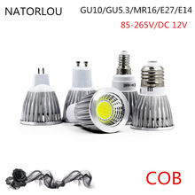 COB led spotlight 9W 12W 15W led lamp GU10/GU5.3/E27/E14 85-265V MR16 12V Cob led bulb warm white cold white bulb led light(China)