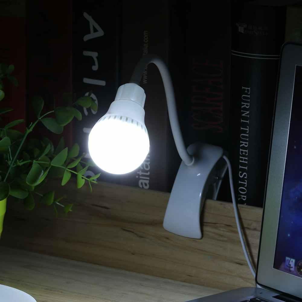סופר בהיר LED שולחן מנורת קליפ USB נטענת שולחן קריאת מנורת תלמיד 360 תואר bendable אור 2017 חדש לגמרי