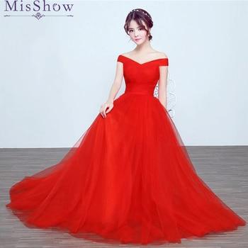 Vestidos de fiesta elegantes rojos
