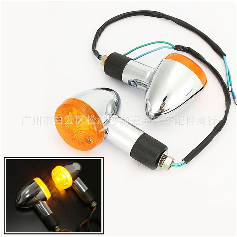 4X Black Amber Turn Signal Light Fit Yamaha VStar XVS 650 950 1100 1300 Classic