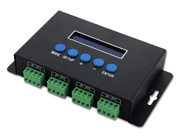 BC-204; Artnet au contrôleur de lumière de pixel de SPI/DMX; entrée de protocole d'eternet; 680 pixels * 4CH + un port (1X512 canaux) sortie DC5V-24 V