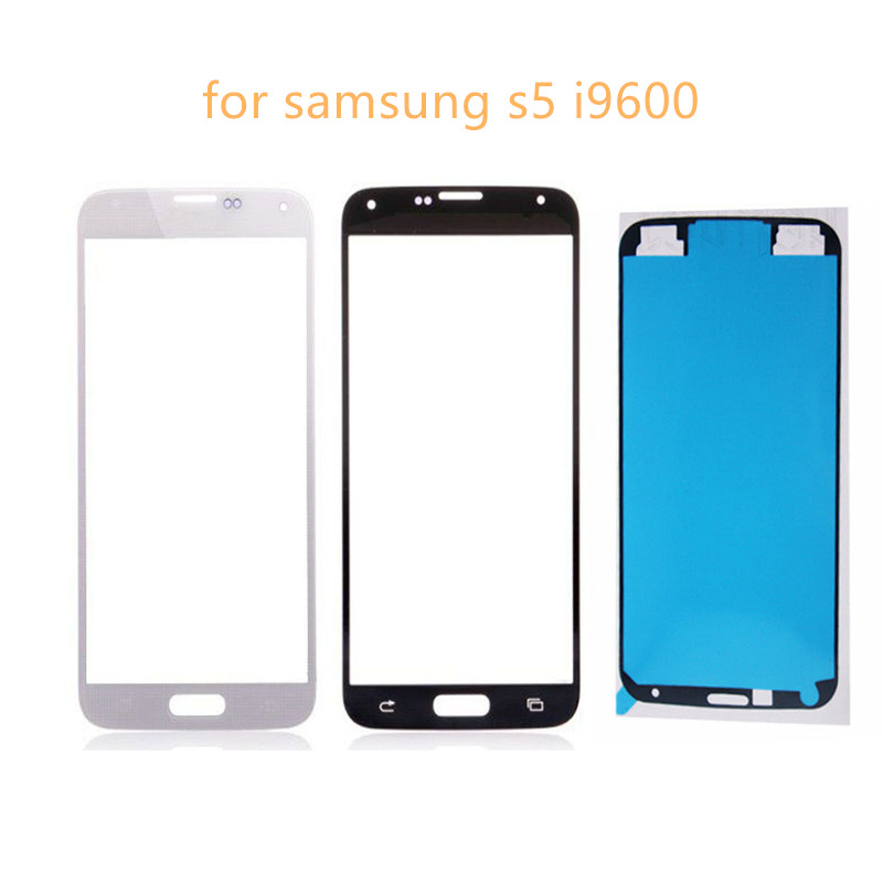 Touch Screen Front Panel <font><b>Glass</b></font> Lens For <font><b>Samsung</b></font> <font><b>Galaxy</b></font> <font><b>S5</b></font> G900 G900F i9600 Front <font><b>Glass</b></font> Screen UV Glue <font><b>Replacement</b></font> Parts Kit image
