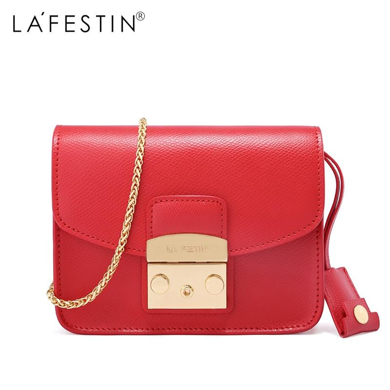 LAFESTIN Famous Shoulder Women Flap Designer Real Leather Crossbody Bag Luxury Totes Multifunction brands Bag bolsa