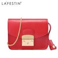 LAFESTIN Famous Shoulder Bag Women Designer Real Leather Flap Crossbody Bag Luxury Totes Multifunction brands Bag bolsa