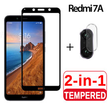2-in-1 Glass + Camera Tempered For Redmi 7A Screen Protector Lens 7 A