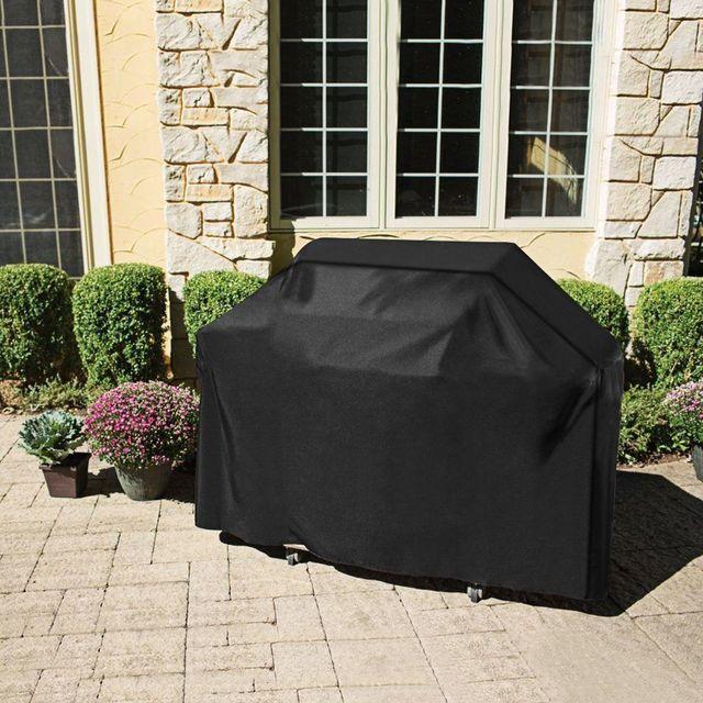Große Größe Outdoor BBQ Grill Abdeckungen Gas Heavy Duty für Home Terrasse Garten Lagerung Wasserdichte Grill Grill Abdeckung BBQ Zubehör