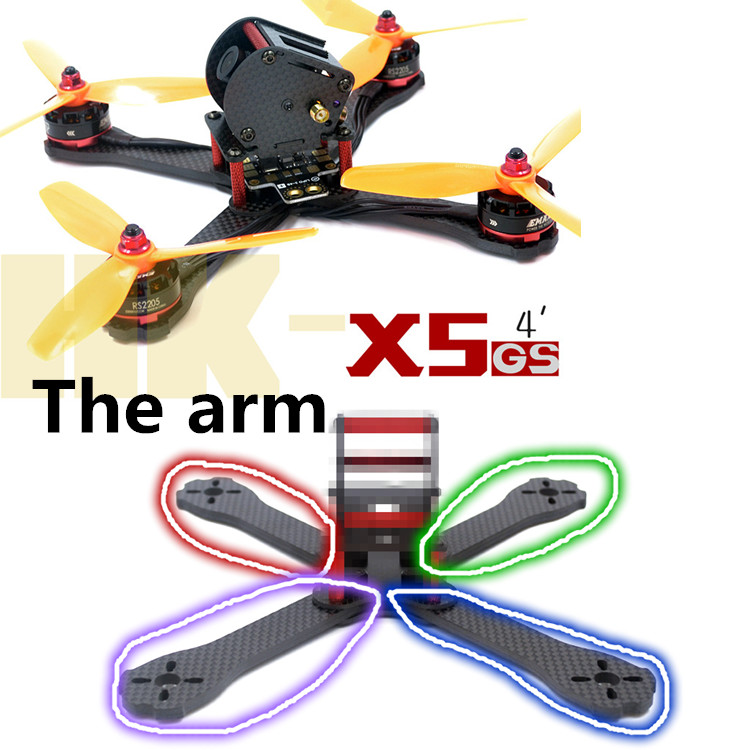 DIY FPV mini racing drone QAV-X5 GS 5 195mm quadcopter 3K pure carbon fiber frame 4mm main plate arms diy fpv mini drone qav r quadcopter 220 frame kit pure carbon frame 4 2 2mm emax cooling 2206ii dragonfly 20a esc oneshot125