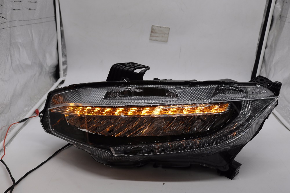 Newest 2015-2016 all LED headlight assembly for honda civic 2015-2016 with flowing drl and led light for high low beam 2015 2016 2015 2015
