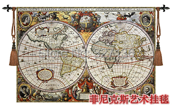 Beautiful home textile product tapestry wall hanging world map big beautiful home textile product tapestry wall hanging world map big decorative jacauard fabric antique decoration gumiabroncs Image collections