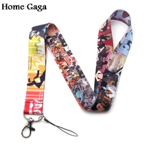Homegaga vintage keychain id lanyard webbing ribbon neck strap fabric para badge phone holder necklace accessories D1567