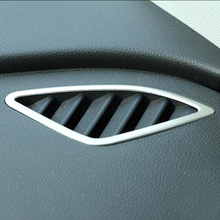 For Audi Q3 Accessories 2013 2014 2015 2016 ABS Matte Interior Car front Small air outlet Decoration Cover Trim Car Styling 2pcs for audi q3 2019 2020 abs matte carbon fibre car front column sound decoration cover trim car styling accessories 2pcs