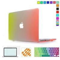 Tęcza Kolorów Twardy Futerał ochronny Dla MacBook Air 13 cal, Pro Retina 13 15 przypadkach z Projektowania Klawiatury Laptopa pokrywa Naklejki