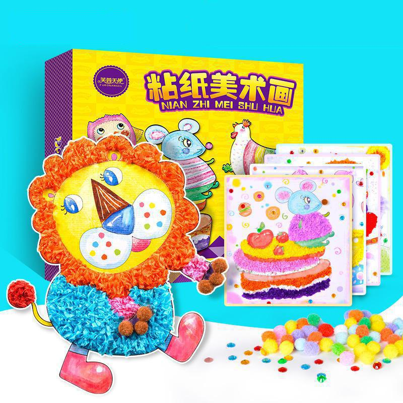 1 Box Children Diy Handmade Diamond Sticky Paper Making Material Package Creative Hair Ball Sticker Painting Paste Toys Art Set|Art Sets| |  - title=