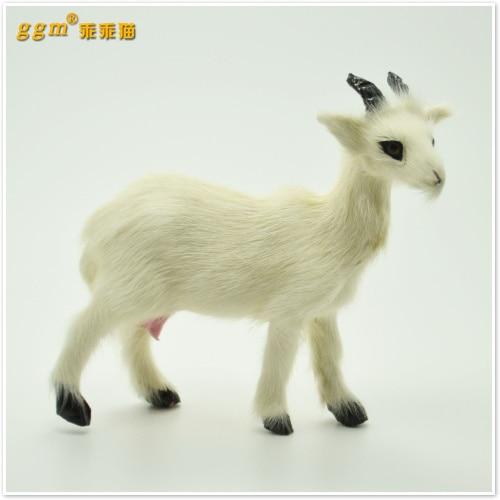 plastic & furs toy simulation sheep 11x9cm white goat model ,handicraft,home decoration Xmas gift w5677