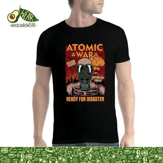6ddfaf44 Atomic War End of the World Radiation Gas Mask Mens T-shirt  XS-5XLStreetwear Funny Print Clothing Hip-Tope Mans T-Shirt Tops
