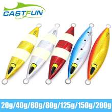 Free Shipping 20g Slow Jig Fishing 5pcs/lot Metal Jig With Feather Hook Fishing Lure Metal Lure funadaiko 5pcs lot lead jig artificial baits fishing lure pencil jig metal jig jigging lure slow metal jig 20g 30g 40g 60g jig
