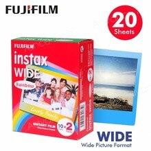 Genuine Fujifilm Instax Wide Film Rainbow 20 Sheets Photo Paper For Fuji Instant Camera 300 / 200 / 210 / 100 / 500AF