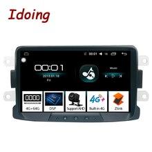 Idoing 1Din 8 «Автомобильный Радио GPS; Мультимедийный проигрыватель android8.1для Renault Duster LADA 2014-2016 ips DSP 4G + 64G Восьмиядерный навигатор
