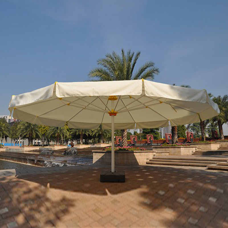 7 Meter Round Deluxe Big Garden Sun Umbrella Parasol Patio Cover Sunshade Covers(without Cross And Water Tank Base)