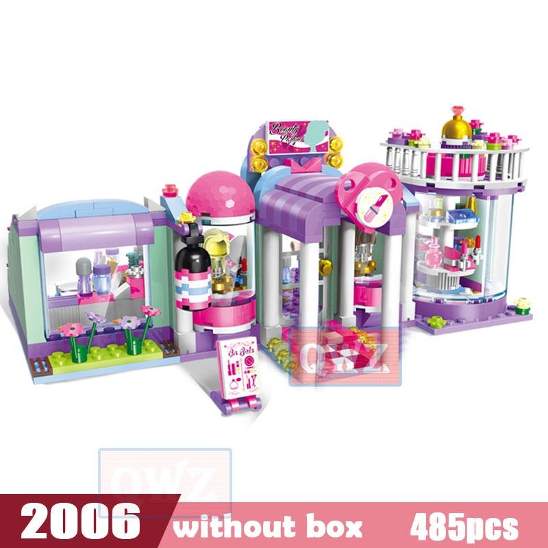 Legoes город девушка друзья большой сад вилла модель строительные блоки кирпич техника Playmobil игрушки для детей Подарки - Цвет: 2006 without box