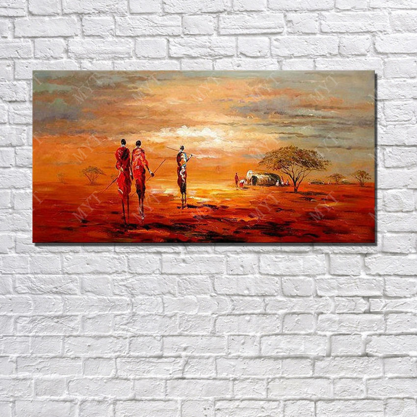Africa landscape painting on canvas living room wall decor for Canvas art on sale