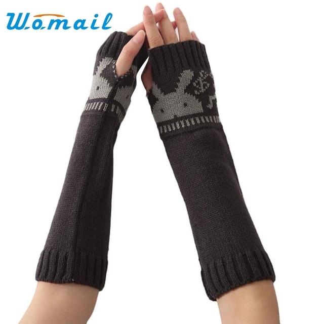 Womail guantes invierno de las mujeres Del Patrón Del Conejo Suave ...