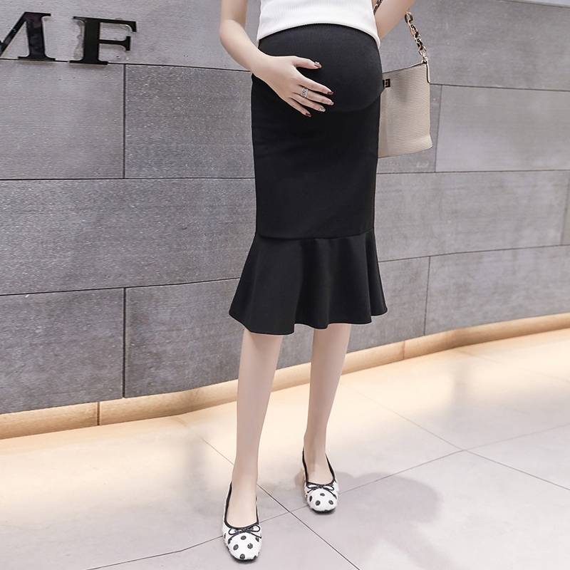 Pregnant Women Skirt Spring And Summer 2019 New Fashion Tide Mother Wear Pregnant Stomach Lift Skirt Pleated Skirt