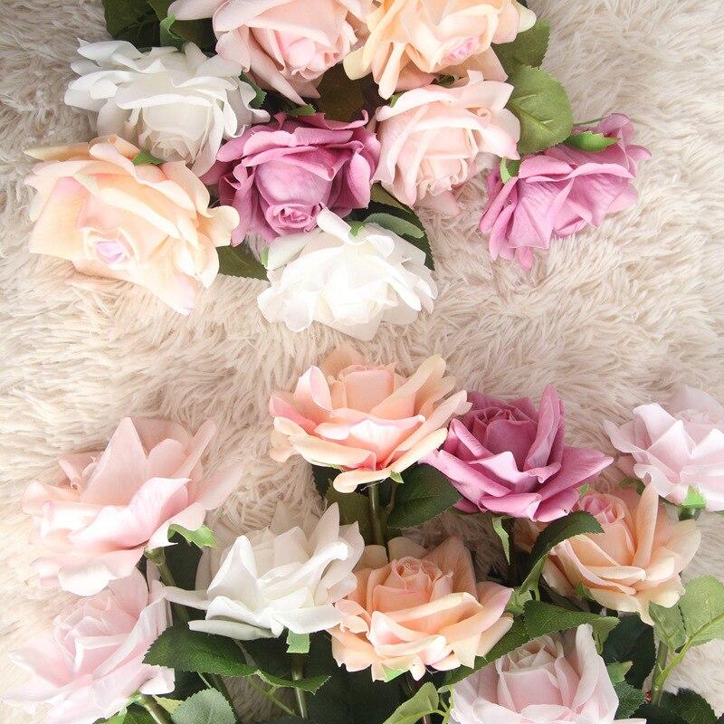 JAROWN увлажняющая Роза, латекс, настоящее прикосновение, искусственный цветок, украшение для дома, Флорес, свадебный цветок, стена, сделай сам,...